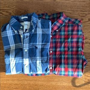 Boys XL plaid Back to School shirts